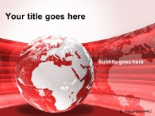 Download europe africa globe red PowerPoint Template and other software plugins for Microsoft PowerPoint