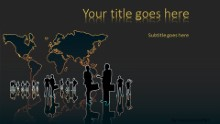 Global Groups Widescreen PPT PowerPoint Template Background