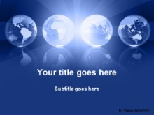 Download globe illumination blue PowerPoint Template and other software plugins for Microsoft PowerPoint