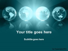 Download globe illumination teal PowerPoint Template and other software plugins for Microsoft PowerPoint