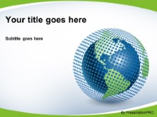 Download polka dot world green PowerPoint Template and other software plugins for Microsoft PowerPoint