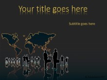 Global Groups PPT PowerPoint Template Background