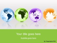 Download globes around the world green PowerPoint Template and other software plugins for Microsoft PowerPoint