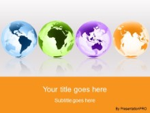 Download globes around the world orange PowerPoint Template and other software plugins for Microsoft PowerPoint