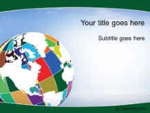 Download patchwork globe green PowerPoint Template and other software plugins for Microsoft PowerPoint