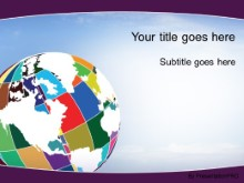 Download patchwork globe purple PowerPoint Template and other software plugins for Microsoft PowerPoint