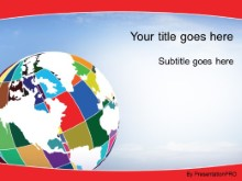 Download patchwork globe red PowerPoint Template and other software plugins for Microsoft PowerPoint