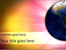 Radiant World PPT PowerPoint Template Background