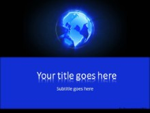 Revolving Glow Globe B PPT PowerPoint Template Background