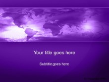Download world minute purple PowerPoint Template and other software plugins for Microsoft PowerPoint