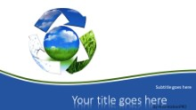 Recycle Resources Widescreen PPT PowerPoint Template Background