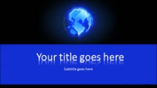 Revolving Glow Globe B Widescreen PPT PowerPoint Template Background