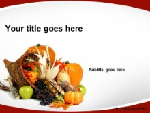 Download autumn cornucopia red PowerPoint Template and other software plugins for Microsoft PowerPoint