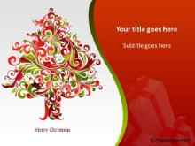 Happy Holidays Tree PPT PowerPoint Template Background