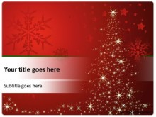 Red and White Christmas PPT PowerPoint Template Background