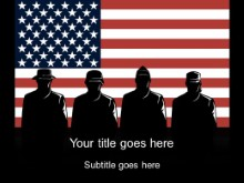 Download military silhouettes PowerPoint Template and other software plugins for Microsoft PowerPoint