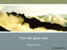 Download andean mountains PowerPoint Template and other software plugins for Microsoft PowerPoint