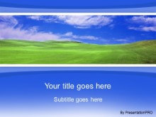 Download green field blue PowerPoint Template and other software plugins for Microsoft PowerPoint