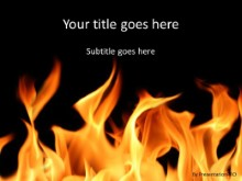 Burning Flames PPT PowerPoint Template Background