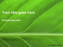 Download leafy green PowerPoint Template and other software plugins for Microsoft PowerPoint