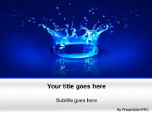 Download water drop 01 PowerPoint Template and other software plugins for Microsoft PowerPoint