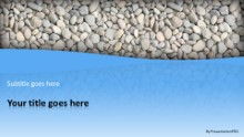 River Stones Widescreen PPT PowerPoint Template Background