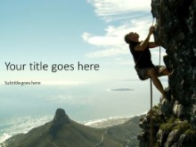 The Rock Climber PPT PowerPoint Template Background