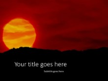 The Setting Sun PPT PowerPoint Template Background