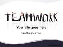 Download teamwork letters PowerPoint Template and other software plugins for Microsoft PowerPoint