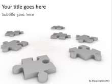 Scattered Pieces PPT PowerPoint Template Background