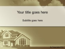 Download house in the clouds brown PowerPoint Template and other software plugins for Microsoft PowerPoint