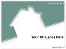 Download housing cutout teal PowerPoint Template and other software plugins for Microsoft PowerPoint