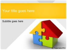 Download housing puzzle orange PowerPoint Template and other software plugins for Microsoft PowerPoint