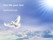 Download heavenly dove PowerPoint Template and other software plugins for Microsoft PowerPoint