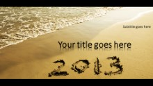 2013 Beach Widescreen PPT PowerPoint Template Background
