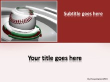Baseball 0905 PPT PowerPoint Template Background