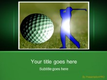 Golf 0235 PPT PowerPoint Template Background