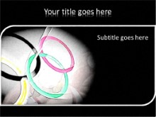 Olympic Rings PPT PowerPoint Template Background