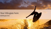 Sunset Surfer 2 Widescreen PPT PowerPoint Template Background