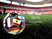 World Cup Ball PPT PowerPoint Template Background