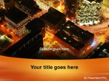 Download arial city night view PowerPoint Template and other software plugins for Microsoft PowerPoint