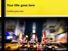 Download taxi time square PowerPoint Template and other software plugins for Microsoft PowerPoint