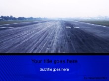 Download landing strip blue PowerPoint Template and other software plugins for Microsoft PowerPoint