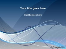 Download swoosh blue PowerPoint Template and other software plugins for Microsoft PowerPoint