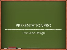Chalk Board PPT PowerPoint Template Background