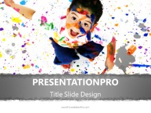 Education Learning to Paint PPT PowerPoint Template Background