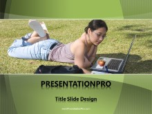 Young Student Outside PPT PowerPoint Template Background
