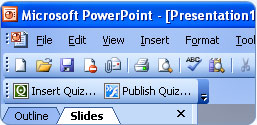 PowerQuiz Point toolbar 2003