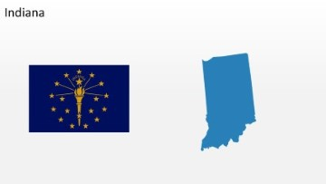 PowerPoint US State Indiana Map