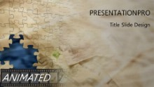 Animated puzzle Widescreen PPT PowerPoint Animated Template Background